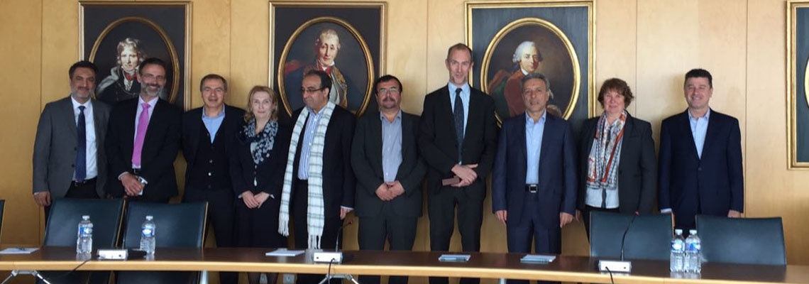 University of Tehran high ranking delegation visited Paris, France