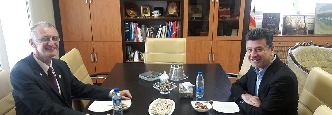 Vice Rector for International Affairs and Mobility of CHARLES UNIVERSITY, Czech Republic visited University of Tehran
