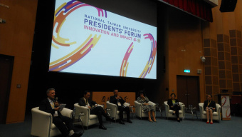 UT President attends the Presidents' Forum in National Taiwan University