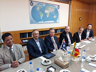 A delegation from The University of Melbourne, Australia met with President of University of Tehran