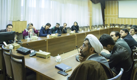 Chinese scholar presented a speech at Central Library and Documentation Center of University of Tehran