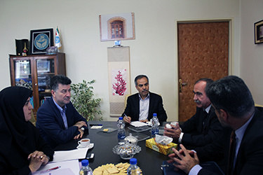A delegation from Universidad de Salamanca, Spain met with Vice President for International Affairs, University of Tehran