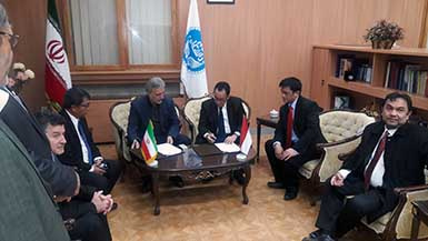 Rector of University of Indonesia met with President of University of Tehran