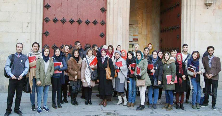 The academic visit of University of Tehran students to University of Salamanca, Spain