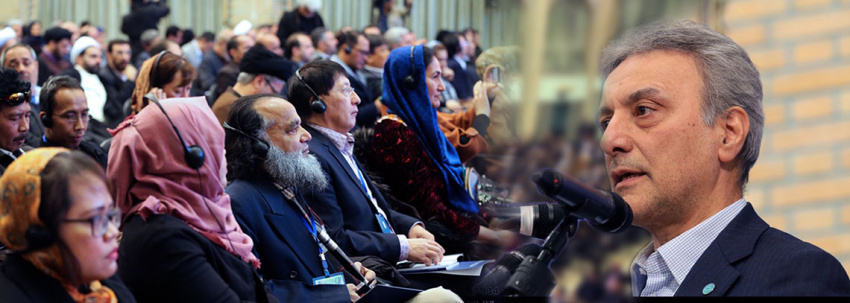 President of University of Tehran, a key note speaker at International Conference of Asian Cultural Dialogues