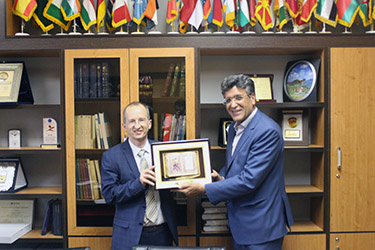 Rector of French University Foundation in Armenia visited University of Tehran