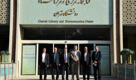 Cultural Attaché of French Embassy visited Univeristy of Tehran